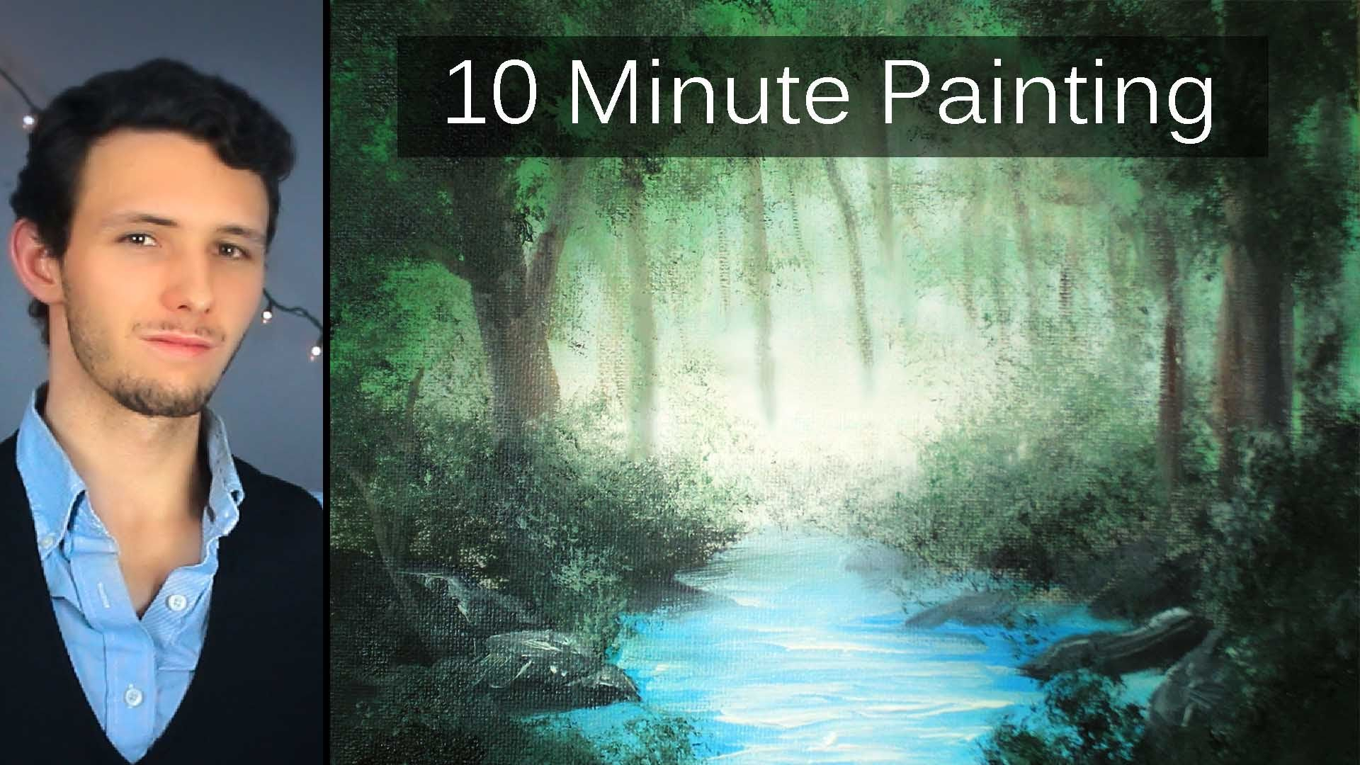 how to paint a fall scene with acrylics