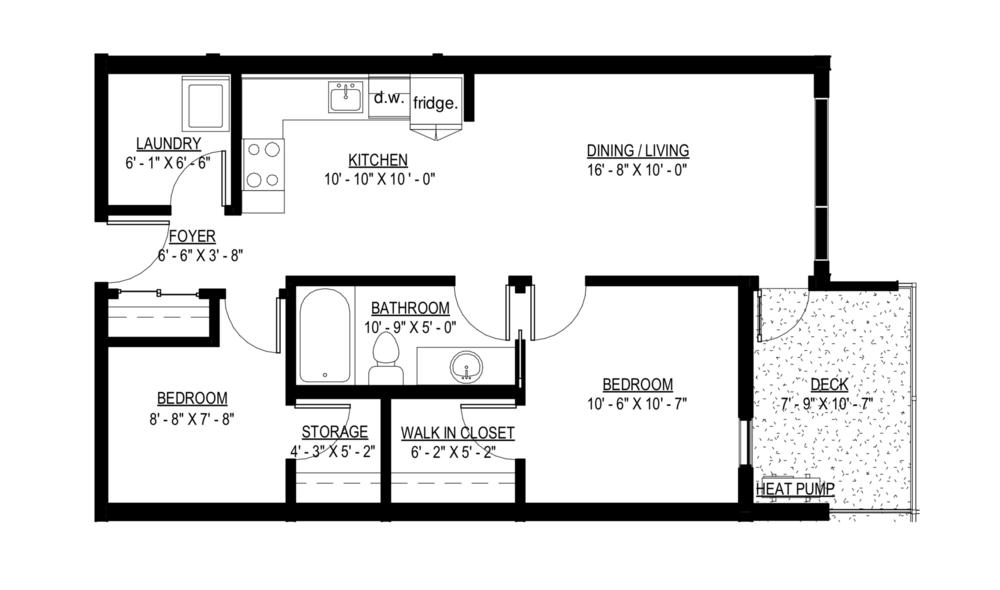 2 Bedroom Junior Peatt Commons Langford Apartment Rentals Rental Apartments Bedroom Deck Bedroom