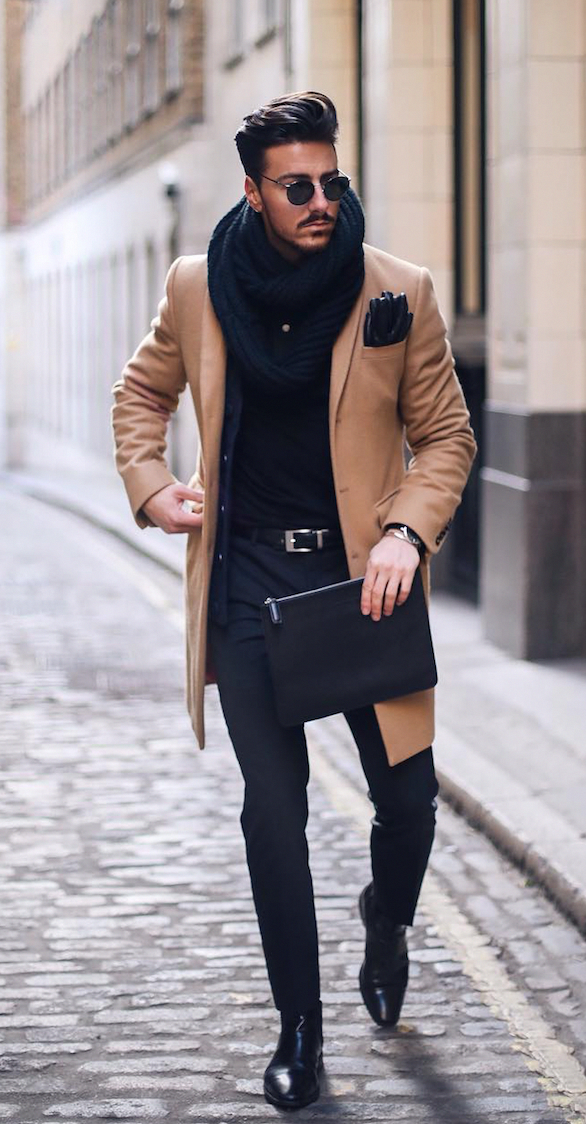 Black And Brown Outfits You Need To Try This Fall Season The Trick With Black And Br Winter Outfits Men Mens Fashion Casual Outfits Men Fashion Casual Outfits