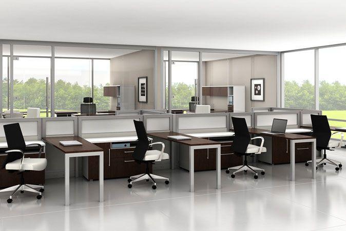 Captivating Trig Desking By Trendway #officefurniture #nbf #nationalbusinessfurniture