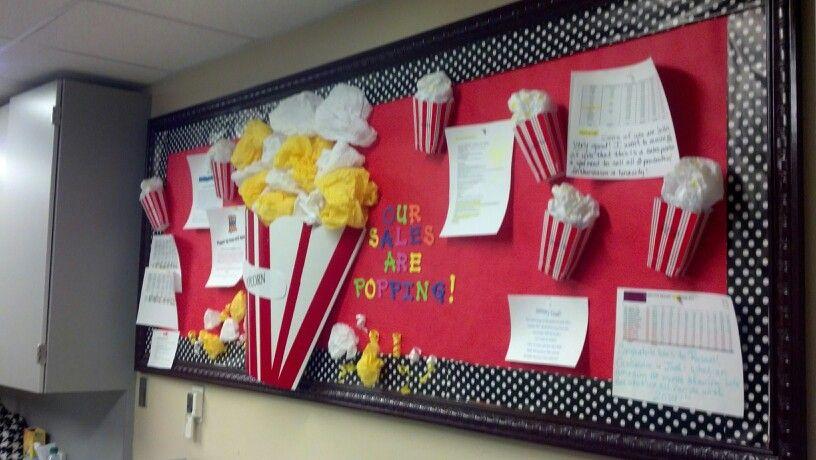 Popcorn Sales Board 1 14 My Bulletin Boards Pinterest