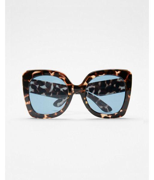 dbb2efe5bd22 Oversized Tortoiseshell Cat Eye Sunglasses Women's Tortoise ...