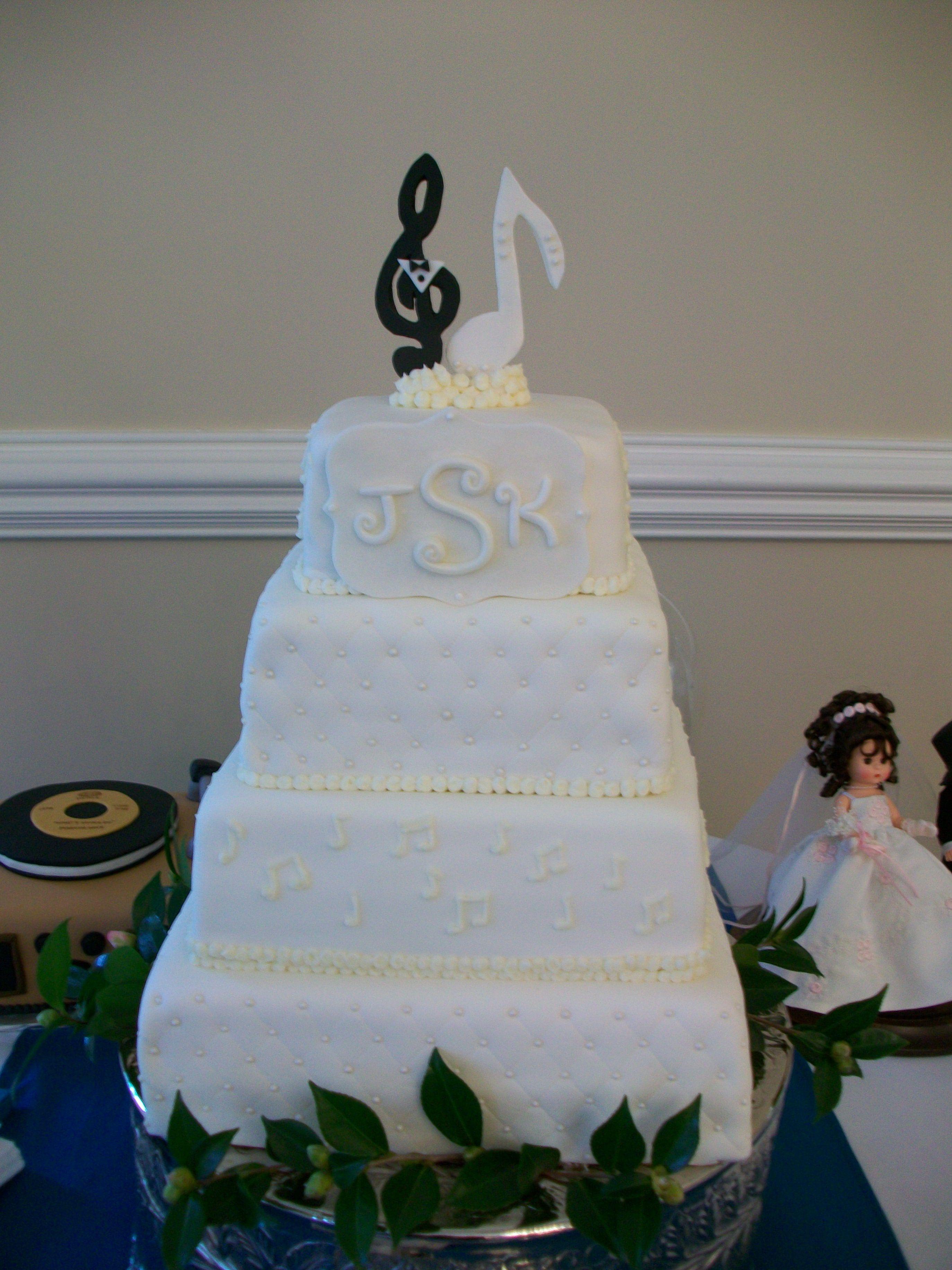 Music Themed Wedding Cake Music themed wedding, Music