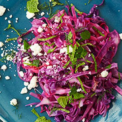 Red Cabbage with Feta and Mint Recipe