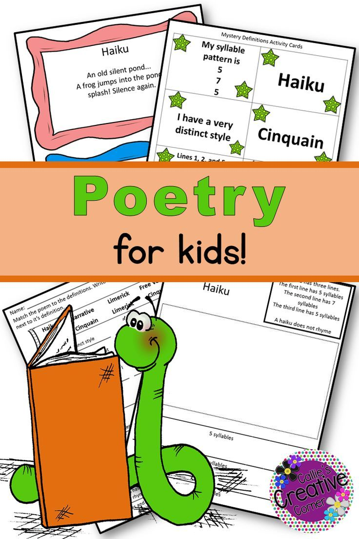 Poetry Unit Poetry for kids, Poetry unit, Poetry
