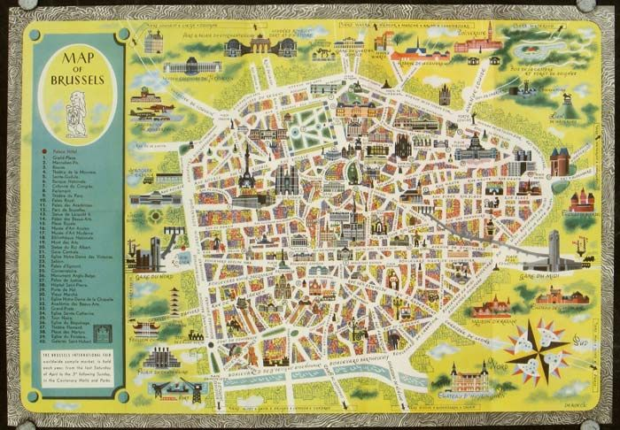 Bruxelles Map of Brussels Brussels with kids Pinterest