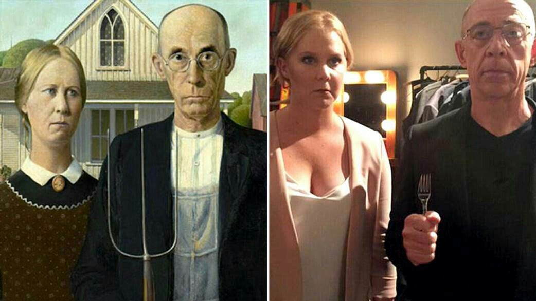 Amy Schumer American Gothic Parody Gw The Famous Merry Funny Search Twitter Painting