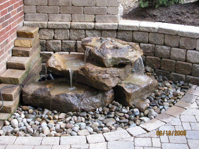 small rock pile fountain | Food | Pinterest | Fountain ...