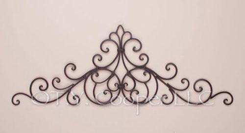 Metal Door Topper  sc 1 st  Pinterest & Wrought Iron Metal Door Topper Wall Grill Grille 91560 | Doors ...