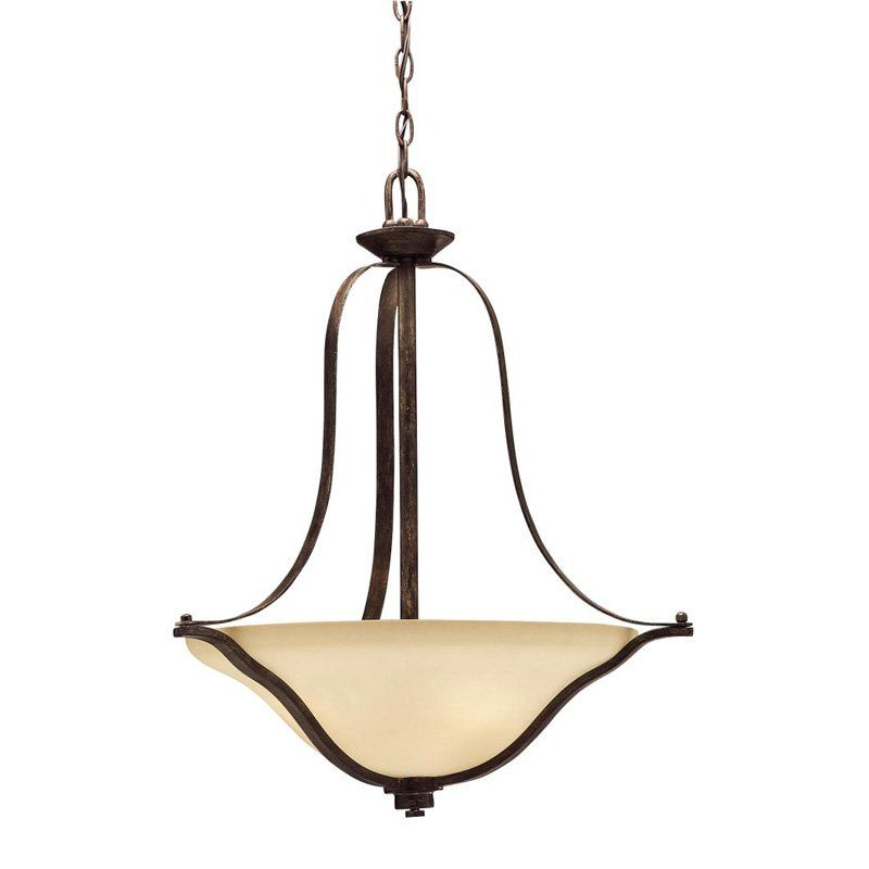Kichler langford pendant light 22w in canyon slate