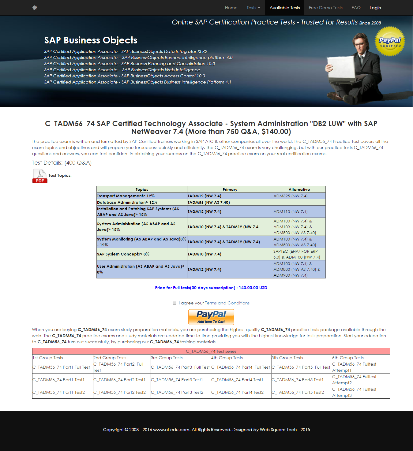 C_TADM56_74 | C_TADM56_74 - SAP Certified Technology