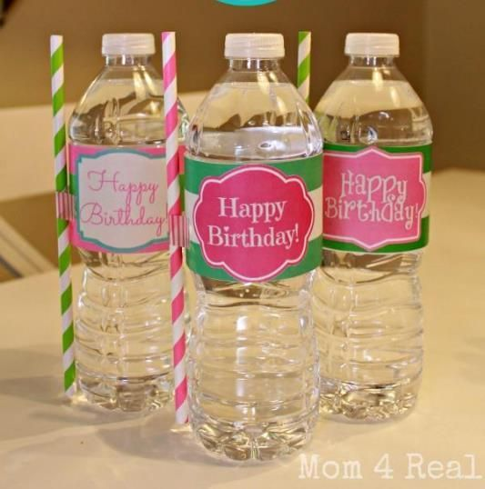 Free Printable Happy Birthday Water Bottle Label Wraps Water - Avery water bottle label template