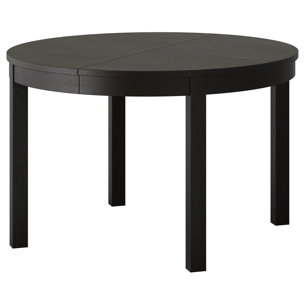 Bjursta Extendable Table Brown Black 45 1 4 65 3 8 Dining Table Dimensions White Round Kitchen Table Ikea Extendable Table