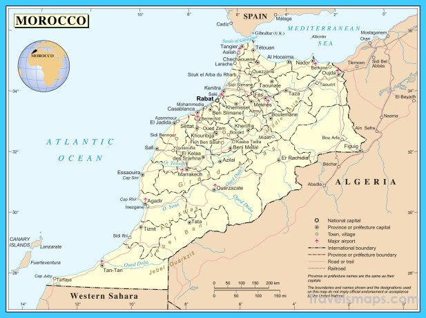 awesome Map of Morocco Travelsmaps Pinterest Morocco Nice map