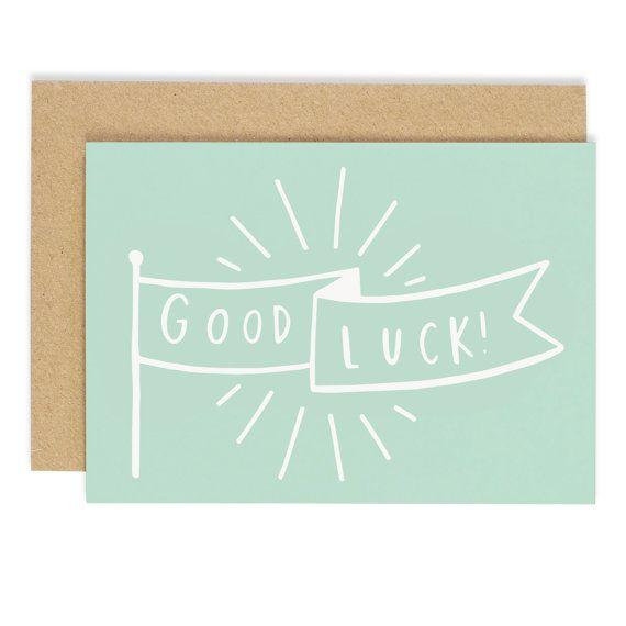 Good Luck Banner Card - good luck card - CC77 Gifts Pinterest - good luck cards to print