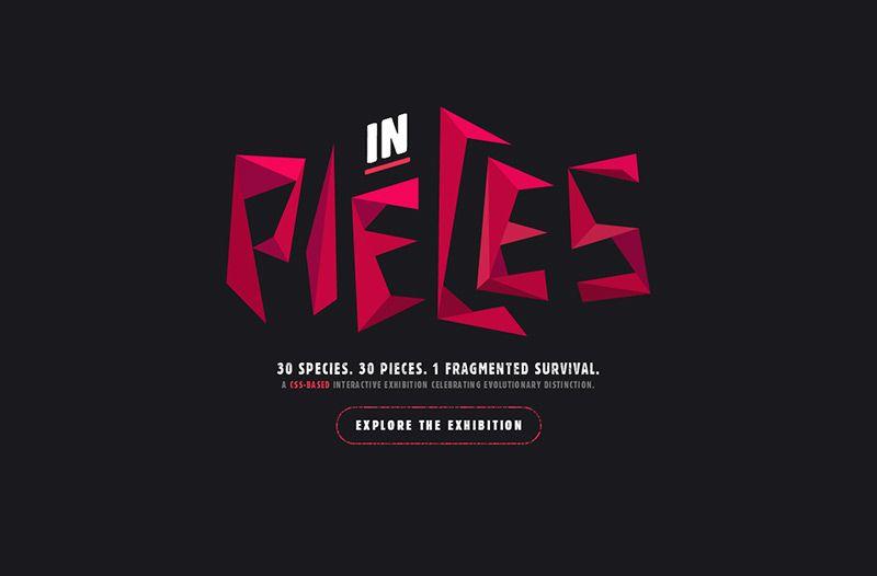 In Pieces | Web Design File