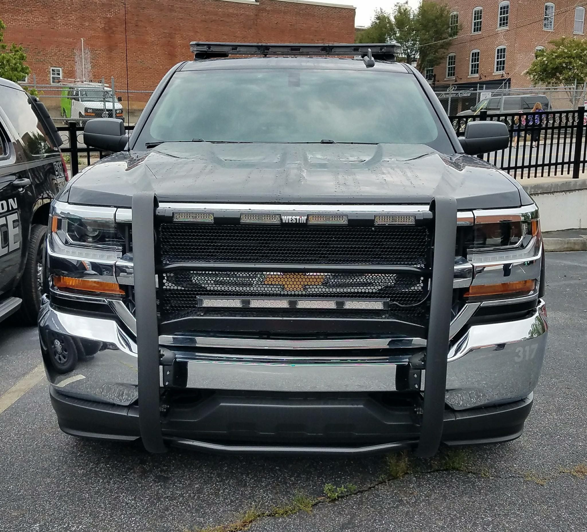 Front End Of One Of Canton Police Departments Chevrolet Silverado