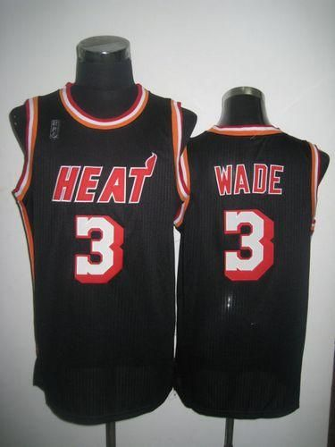 detailed pictures b8497 24cbc Heat #3 Dwyane Wade Black Hardwood Classics Nights ...