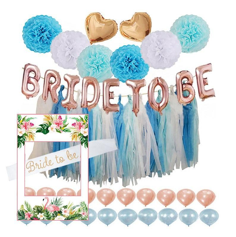 Blue And White Bride Shower Decorations Kit Blue White Hen Party