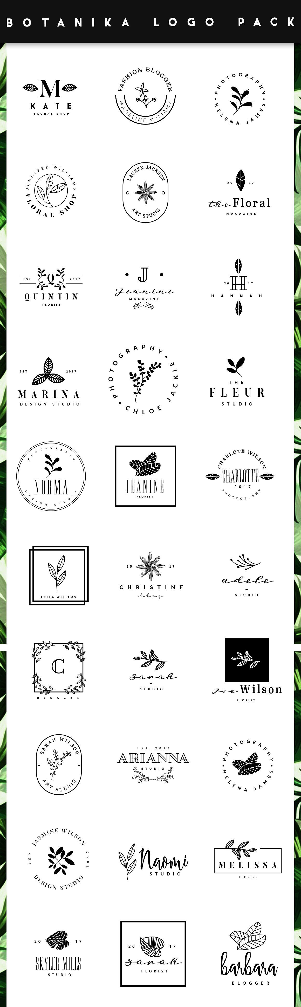 Botanika Logo Maker Branding Design Logo Business Logo Design Logo Maker