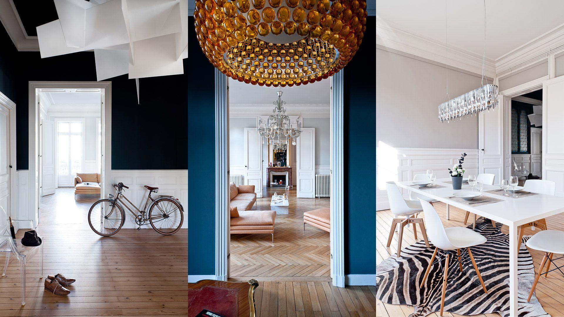 Un Appartement Haussmanien A Pey Berland Bordeaux Daphne Serrado Architecture Interieure Decoration Appartement Appartement