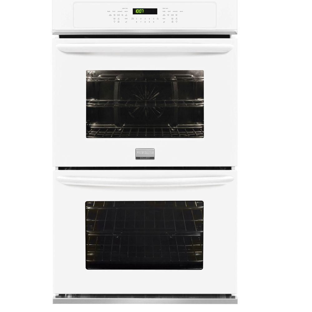 Frigidaire Gallery 30 in. Double Electric Wall Oven Self-Cleaning with Convection in White