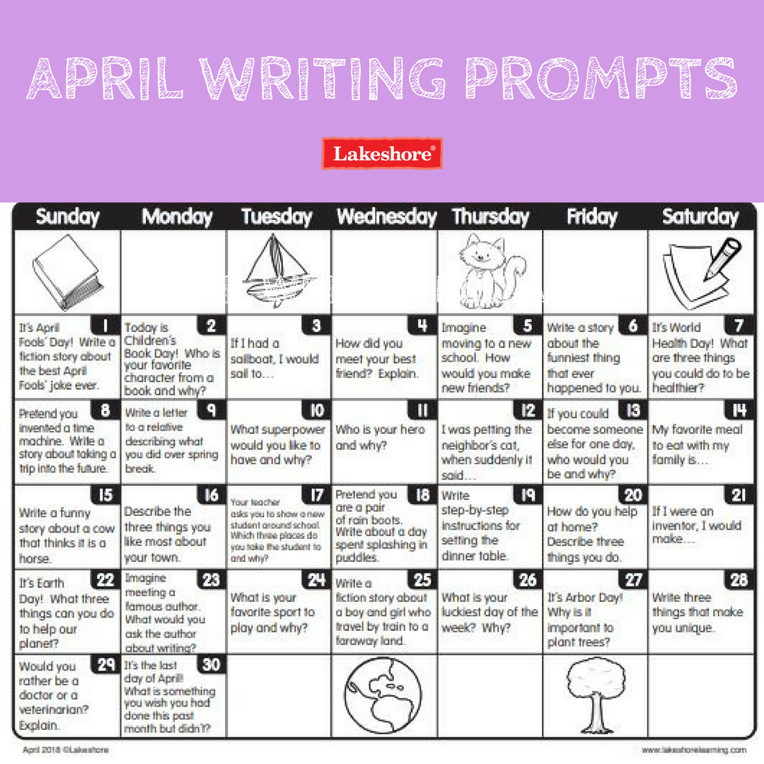 Time To Spring Into Writing Action With Our April Daily