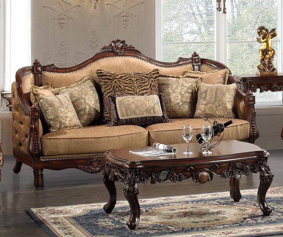hayden animal print formal living room set