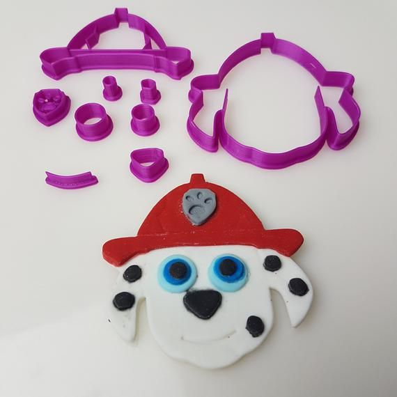 Paw Patrol Face Choose Your Fave Character Fondant Cookie Cutter - Fondant cookies, How to make cookies, Fondant, Fondant cutters, Cupcakes decoration, Paw patrol - fondant from more intricate designs   Some cutters have multiple small parts and some pointy edges, so please, they are not suitable for small children   Because they are light and plastic, they are not suitable for dishwashers, they will warp and melt   Please warm gentle handwash only   Allow to dry properly and store them in an airtight bag or container (they come packed in a ziplock bag)  Most cutters come in multiple pieces, please look out for this when unpacking   Some have up to 14 pieces   You don't have to use all the pieces, but it does give you the option of making your decoration as detailed as possible, or you can choose to keep it simple   If you have any questions, please let us know, we usually respond within 1 business day