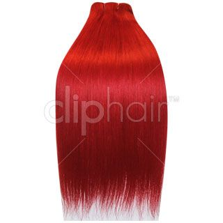 18 inch double wefted full head clip in hair extensions bright 18 inch double wefted full head clip in hair extensions bright red vibrant pmusecretfo Gallery