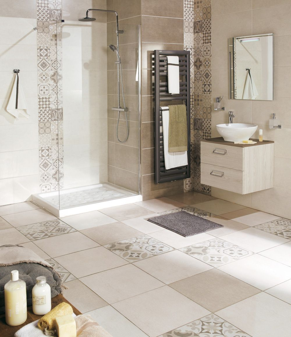 carrelage sol carrelage mural les bonnes id es d co salle de bain pinterest bathroom. Black Bedroom Furniture Sets. Home Design Ideas