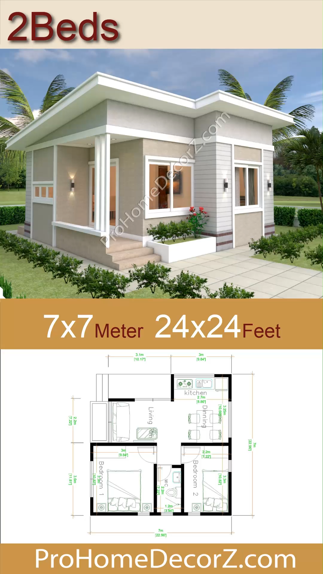 49+ 24x24 2 bedroom house plans information