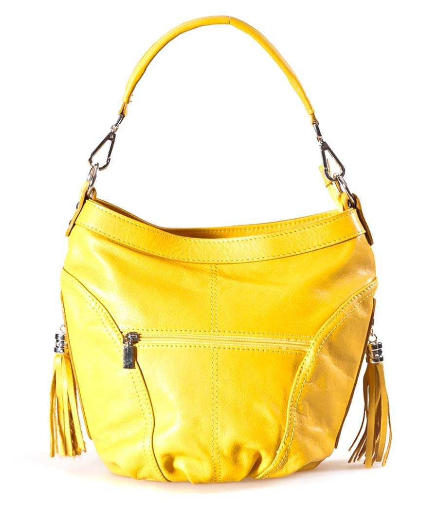 Luisa Vannini 26cm leather bag in yellow, Designer Bags Sale, Luisa Vannini, Secret Sales