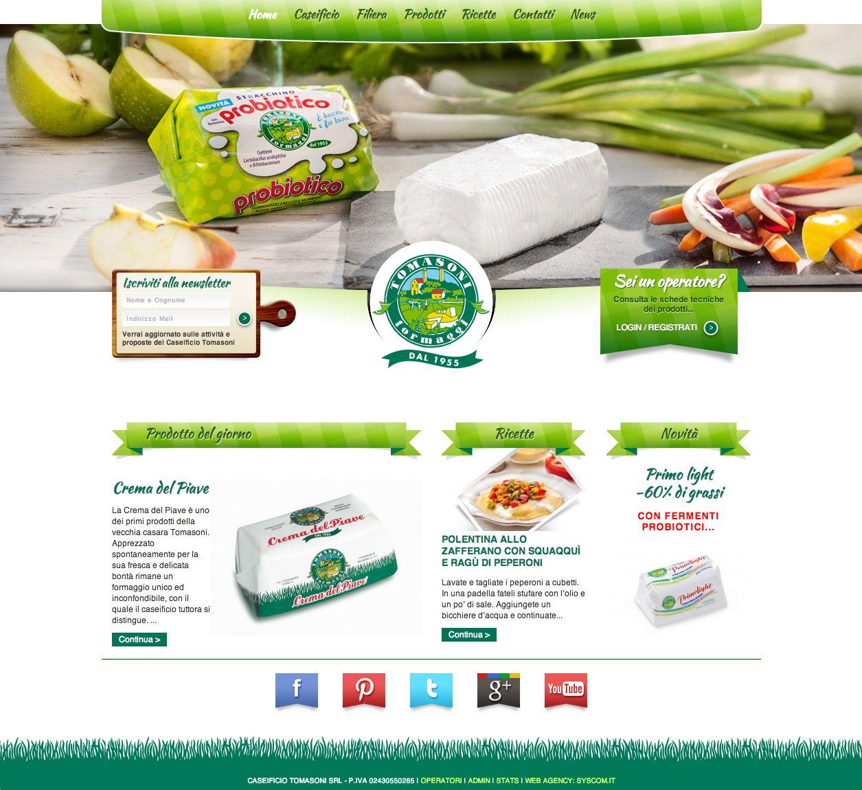 Freschi prodotti e gustose #ricette sul nuovo sito CMS di Caseificio Tomasoni.  www.caseificiotomasoni.it