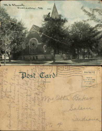M-E-Church-Hoopeston-Illinois-mailed-1916