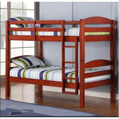 Home Loft Concept Twin Bunk Bed with Built-In Ladder $319.66