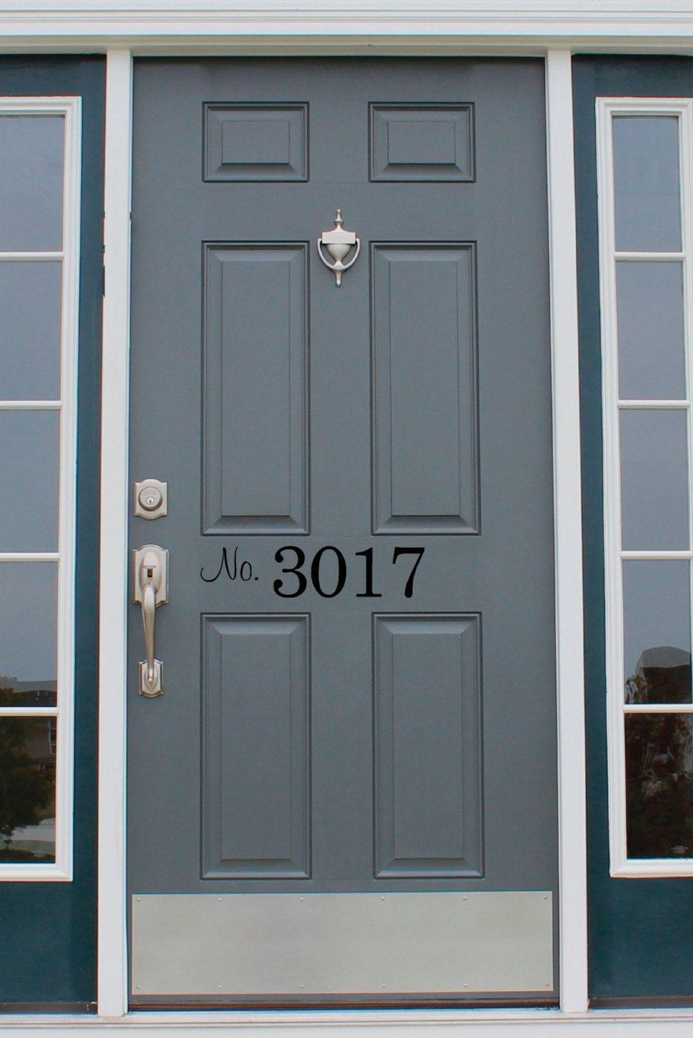Beautiful Front Door Number Decal, Home Address Decal, Street Number Door Decal By  EyeCatcherDecals On