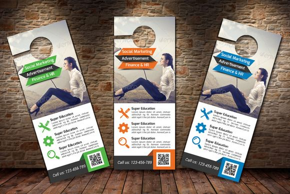 Marketing Business Door Hanger By Business Flyers On