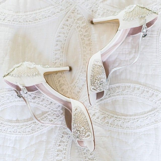 Beautiful shot of Aurelia shoes worn by the lovely Gabi @sweetpeapr for her wedding at the weekend in sunny Somerset captured by @eddiejuddphotography #itsallinthedetail #weddingshoes #british #bridalfashion #somerset #westcountryatheart #ivory #handbeaded #handmade #reallifebride