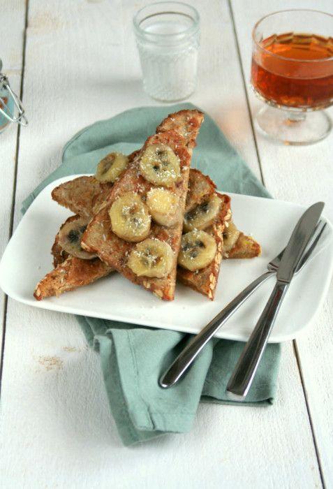 Gezonde wentelteefjes met banaan - Lekker eten met Linda