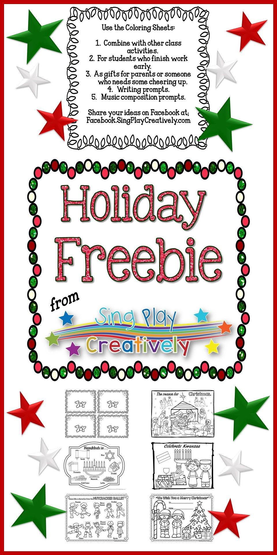 freebie holiday coloring sheets for kwaanza christmas