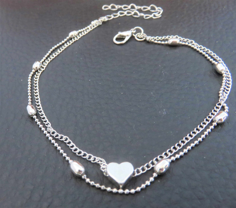 2 Pcs Collier Chaîne d/'Extension Bracelet Chain Bijoux Argent Sterling 925