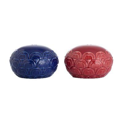 故宮經典作品 祭紅霽青 椒鹽罐   法藍瓷 Franz