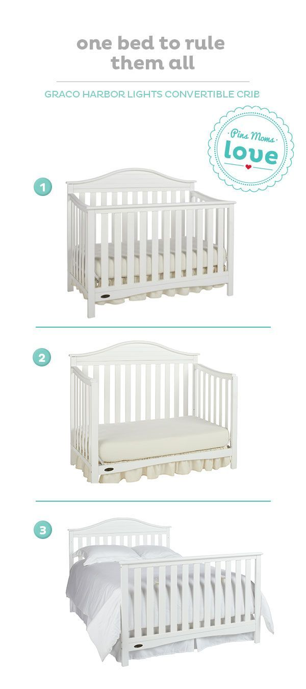 A Convertible Crib Grows With Your Baby Making It Easier To Plan Ahead White Toddler BedWhite