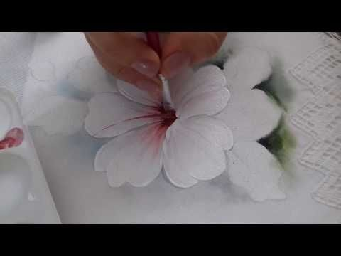 Pintura em tecido, Veja como pintar flor do campo - YouTube