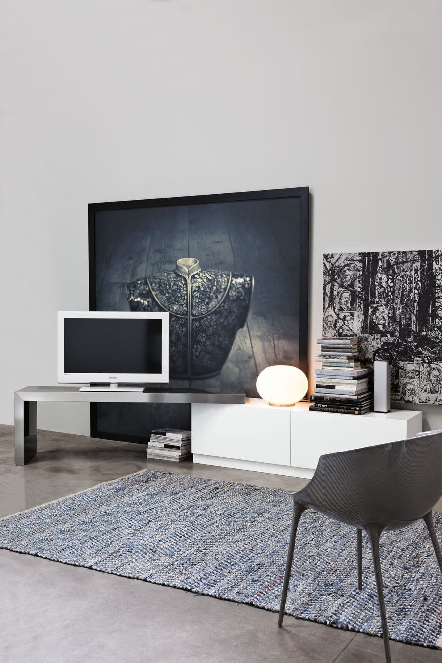 Factory Directly Sale Wall Living Tv Cabinet Mdf Tall
