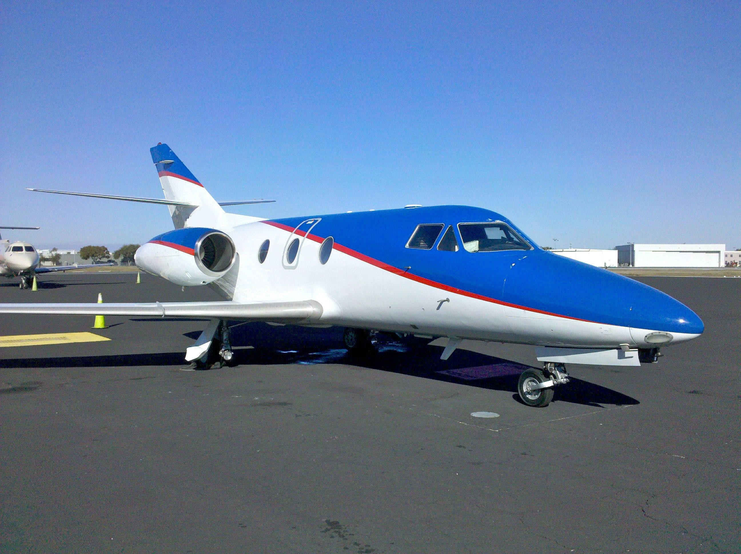 The Falcon 10 charter jet is a high performance business