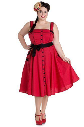 0ef30ea6d24 Fashion Bug Women Plus Size  Vintage Rockabilly Pin Up  Rockabilly Pinup  Martie 50s Polka Dot Red Swing Dress www.fashionbug.us  PlusSize   FashionBug ...
