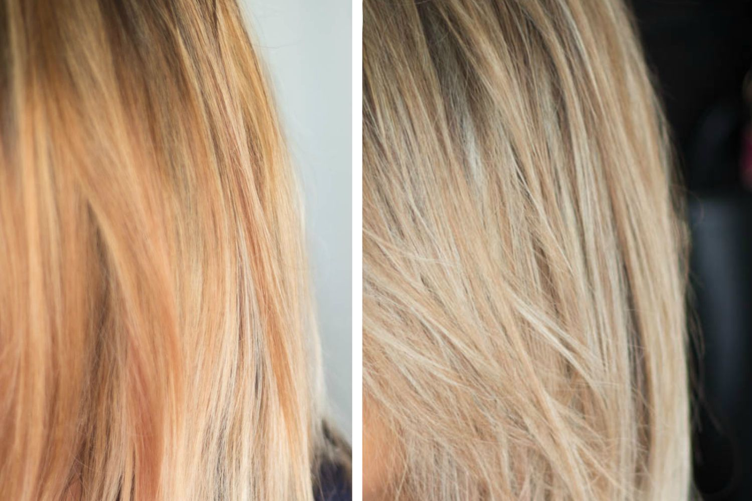 How To Tone Brassy Hair At Home Wella T14 And Wella T18 Toner For Blonde Hair Toning Bleached Hair Toning Blonde Hair
