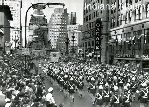 Indianapolis Then And Now West Market Street And The 500 Festival Parade Historic Indianapolis All Things Indianapolis History Indiana Travel Indianapolis Indiana Indianapolis